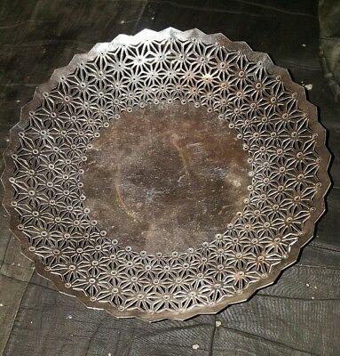 Stunning Art Deco Mappin And Webb Solid Mappin Plate Tazza Well Marked.