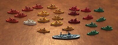 A Cracker Jack Armada! 25 Metal Ships In Different Colors