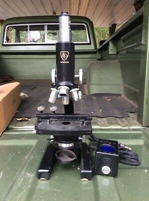 Antique AO Spencer Binocular Microscope Made In USA