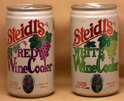 Lot of 2 STEIDLS WINE COOLER 12oz Cans (Empty) CANADA DRY / Graf's Milwaukee WI