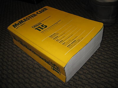 McMaster Carr 115 Catalog Book Industrial Parts and tool catalog