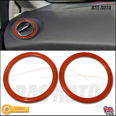 2x AIR VENT RINGS FORD FIESTA MK 6 7 7.5 GEL BADGE OVERLAY TRIM SE Zetec ST150 S