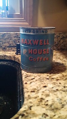 Vintage Maxwell House Drip Grind Coffee Tin 2 LB with Key, Unopened, Full