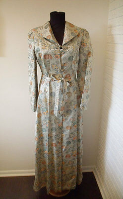 Vintage 1960s Chinese Silk Floor Length Coat - size small