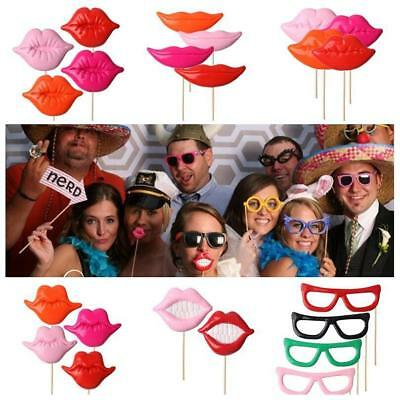 Diy  Photo Booth Props For Party Polymer Clay Glasses Moustache Lips on A Stick