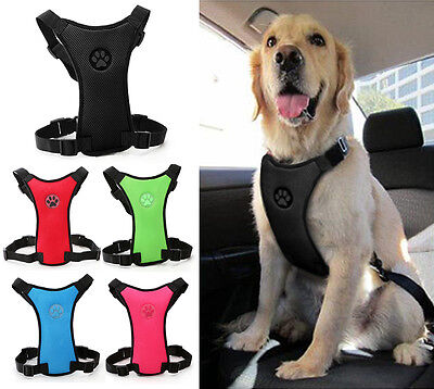 Breathable Air Mesh Pet Dog Car Harness Safety for Dogs Travel 5 Colors S M L