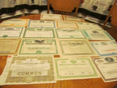 27 Diff. Stocks Certificates & Bonds Lot # 15