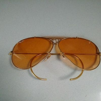 Vintage B&L Ray Ban Ambermatic Aviator Shooter Sunglasses 62mm