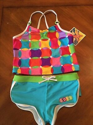 Angel Beach Girls Swimwear Tankini Top and Bottoms Girls size 12 NWT