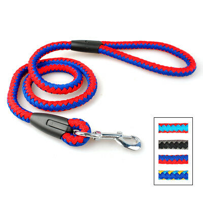Heavy Duty Dog Leash Braided Rope Strong Pet Walking Leashes for Dogs M L 4FT