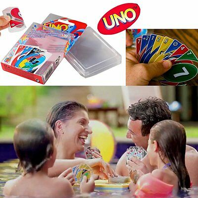 UNO H2O Waterproof Game Playing Standard 108 Cards Family Travel Instruction Fun