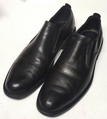 COLE HAAN (C09662)- Black Leather, Slip-On Casual Fashion Shoes- (10.5M)