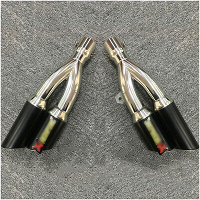 Universal 51mm Dual-outlet Exhaust Muffler Pipe For Motorcycle Right Left Side