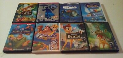Lot of 8 Disney Dvds Tarzan Mary Poppins Finding Nemo Bambi The Rescuers