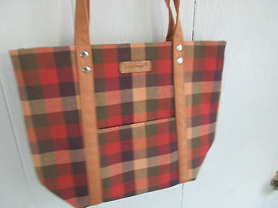 Longaberger Collectible NWT Homestead Plaid  Tote Bag - NEW WITH TAGS!
