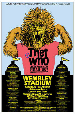 THE WHO 1979 Wembley Concert Poster
