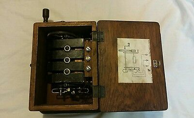 Vintage phone generator with PMG logo, working order.