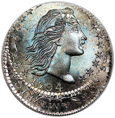 Gallery Mint 1794 Flowing Hair Half Dime, flip-over off-center double strike, BU