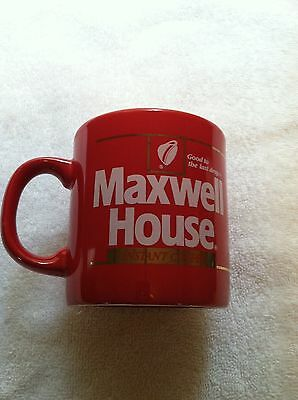 1 Maxwell House Instant Coffee Mug Red Made In England Cups Teacups Vintage
