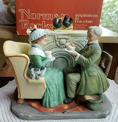 """Norman Rockwell's Four Seasons 1955 """"Vintage Times"""" by Gorham figurine /box"""