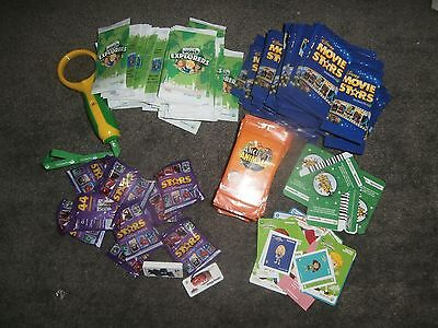 Woolworths Mixed Lot of Movie Stars World Explorers Ancient Animals Stars NEW