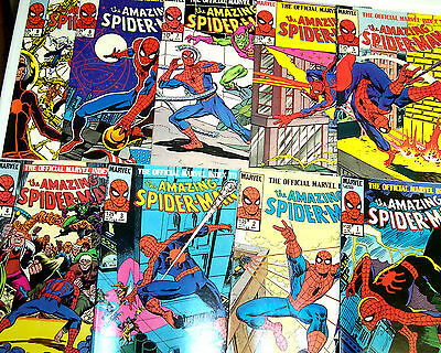 OFFICIAL MARVEL INDEX TO AMAZING SPIDER-MAN #1-9 Full Set! (NM-) 1985 Cool Read