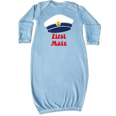 Inktastic First Mate Boy Baby Layette Sleeper Sailor Anchor Infant