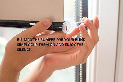 STOP your blinds from banging with Blumpa the roller blind bumper.