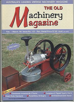 The Old Machinery Magazine TOMM  issue 123 February-March 2006