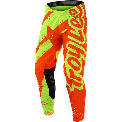 Troy Lee Designs NEW Mx 2018 GP Shadow Yellow Orange Kids Youth Motocross Pants