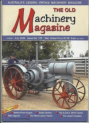 The Old Machinery Magazine TOMM  issue 125 June-July 2006