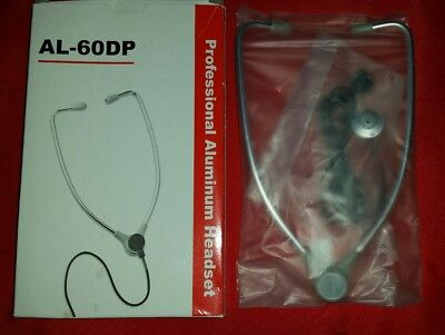 AL-60DP Professional Aluminum Stethoscope Transcription Headset Dictaphone 2 Pro