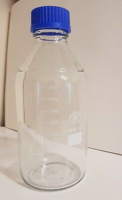 1000ml 1litre Graduated Glass Screwcapped Reagent Bottle Lab science simax