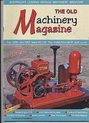 The Old Machinery Magazine TOMM  issue 128 December 2006-January2007