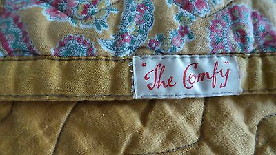 """Lovely Vintage Durham Reversible Double Bedspread Quilt - """"the Comfy"""" - Paisley"""