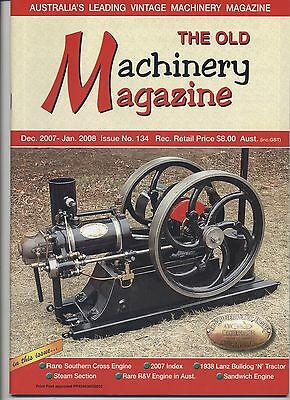 The Old Machinery Magazine TOMM  issue 134 December 2007-January 2008