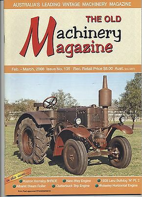 The Old Machinery Magazine TOMM  issue 135 February-March 2008