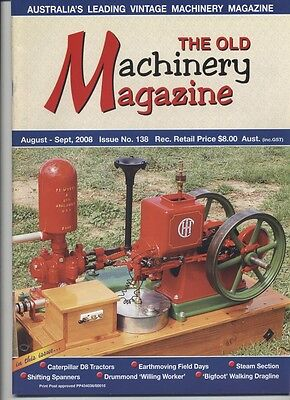 The Old Machinery Magazine TOMM  issue 138 August-September 2008