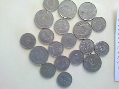 Singapore 10 & 20 Cents Mixed