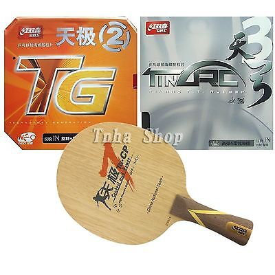 DHS TG7-CP with TinArc3/NEO Skyline TG2 Rubbers for a Racket