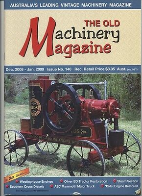 The Old Machinery Magazine TOMM  issue 140 December 2008-January 2009