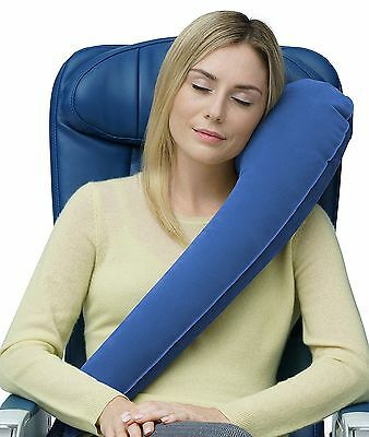 L Shaped Portable Inflatable Travel Pillow Neck Cushion Car Flight Rest Support