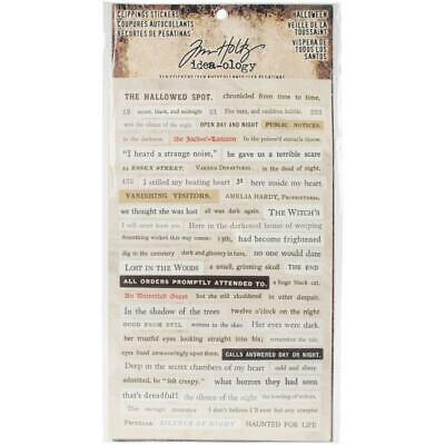 Tim Holtz Idea-Ology - Clippings Stickers - Halloween - 4 Sheets
