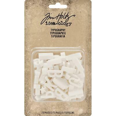 Tim Holtz Idea-Ology - Typography Alphabet - White - 73 Pieces