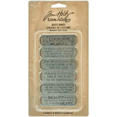 Tim Holtz Idea-Ology - Quote Bands - Set of 6