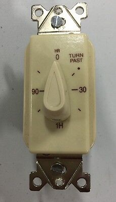 NEW Tork A502H 0 - 2 Hrs Spring Wound Interval Timer Switch, Ivory