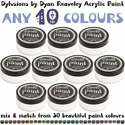 Dylusions Fluid Acrylic Paint - Pack of 10 - Choose Your Own Colours