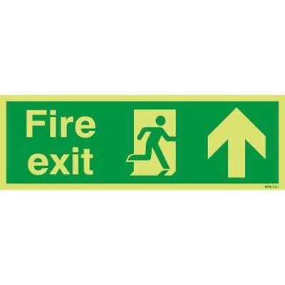 Safety Sign Niteglo Fire Exit Running Man Arrow  [SR11151]