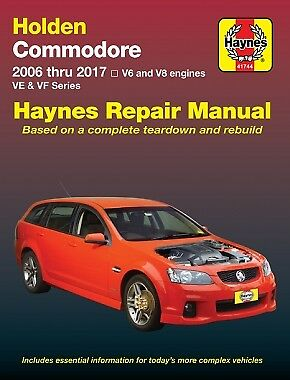Holden Commodore VE/VF V6 & V8 from 2006-2017 Workshop Repair Manual MPN HA41744