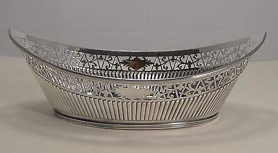 Large Antique English Bread Basket by Mappin and Webb - Silver Plate